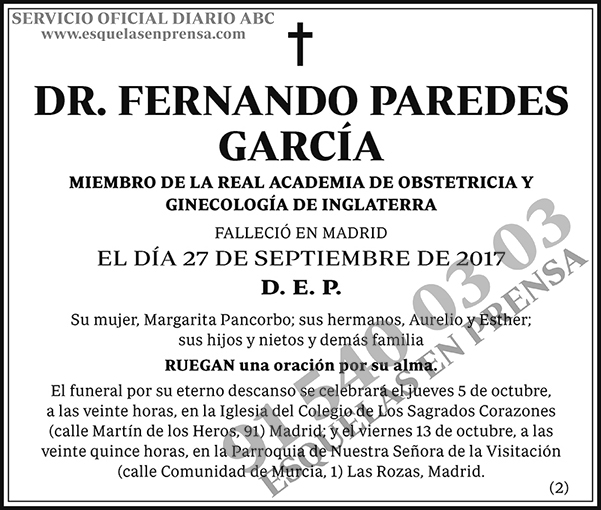 Fernando Paredes García